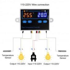 Двойной термостат для инкубатора 10A