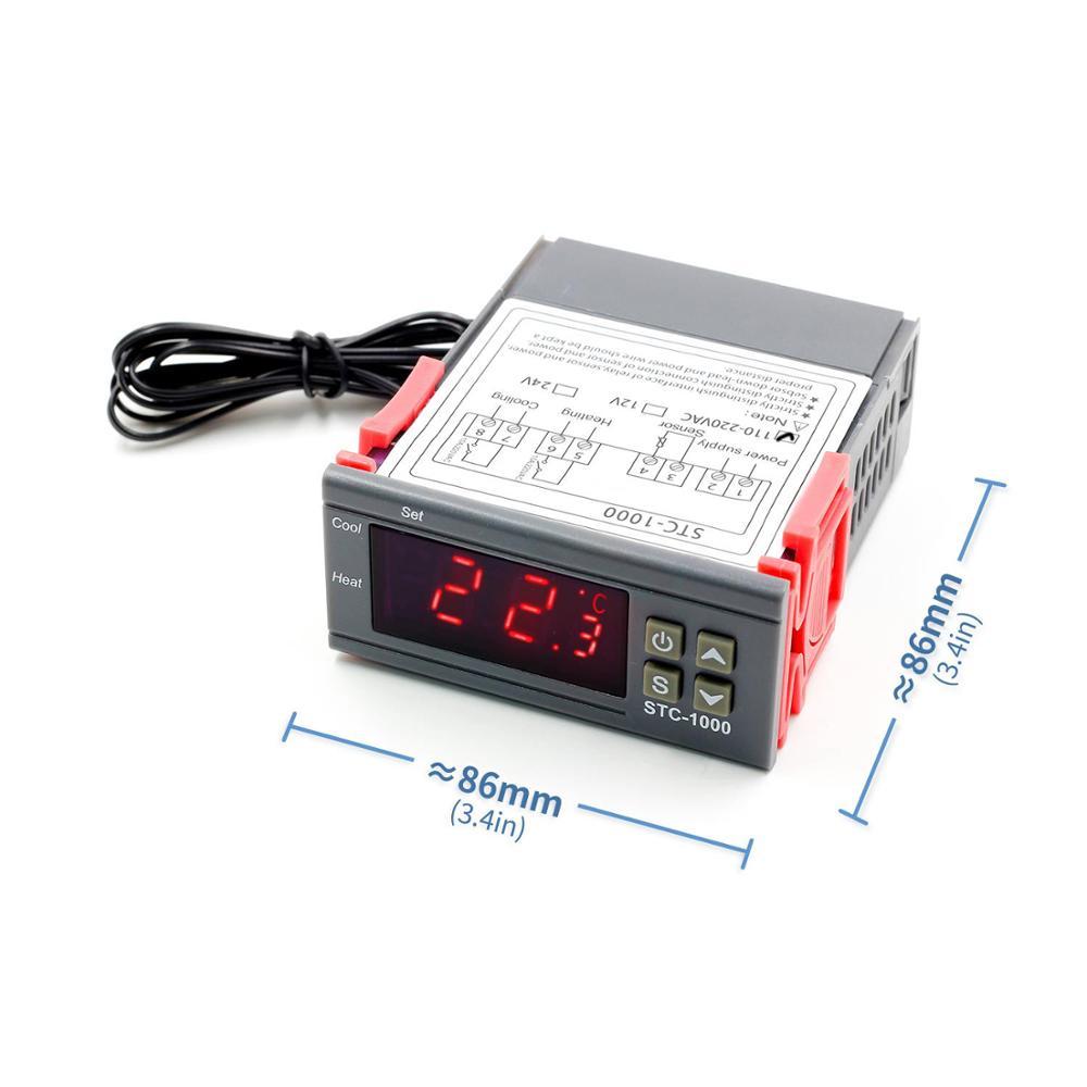 Купить Терморегулятор 10 А STC 1000 12 В 24 В 220