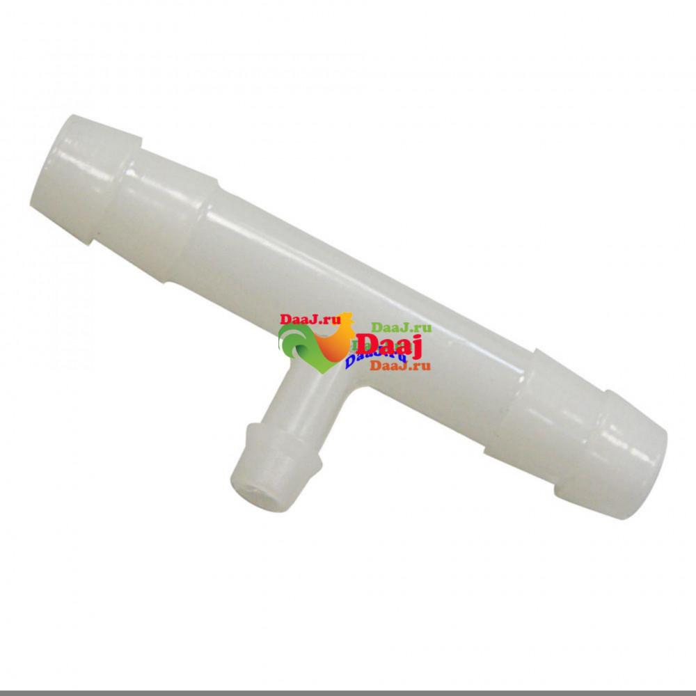 Купить  T-образный переходник 10х7х10мм для поилки арт. ADB